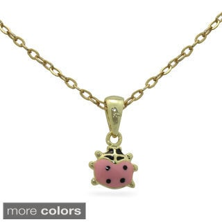 Junior Jewels Enamel Ladybug Pendant