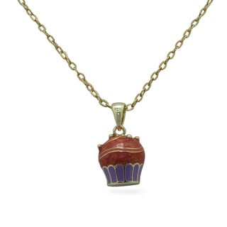 Junior Jewels Enamel Big Cupcake Pendant Necklace