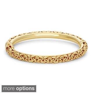 Gioelli Sterling Silver Byzantine Bangle Bracelet