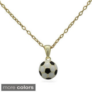 Junior Jewels Enamel Soccer Ball Pendant