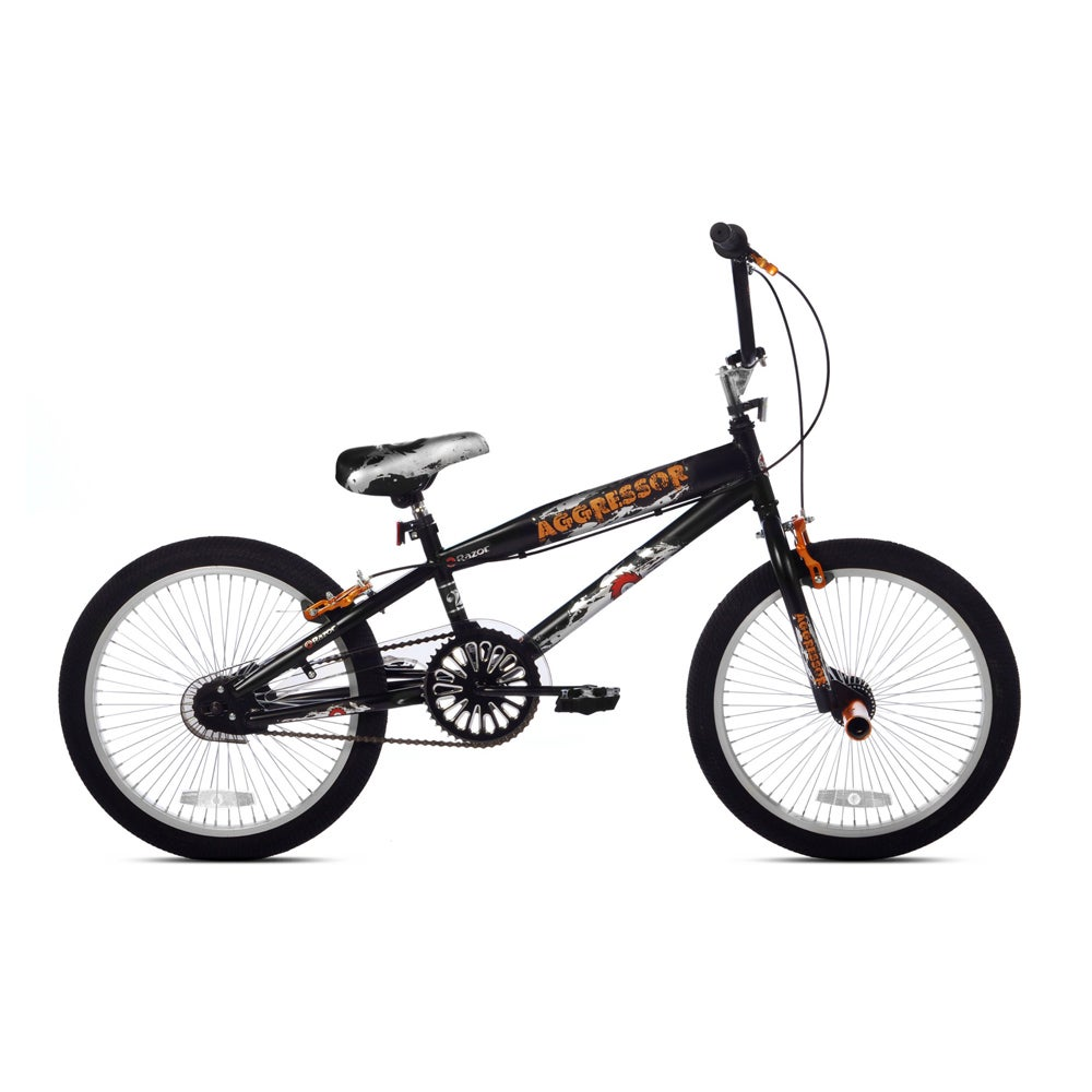 Kent Bicycles Razor Aggressor 20-inch Boy's BMX Bike, Silver