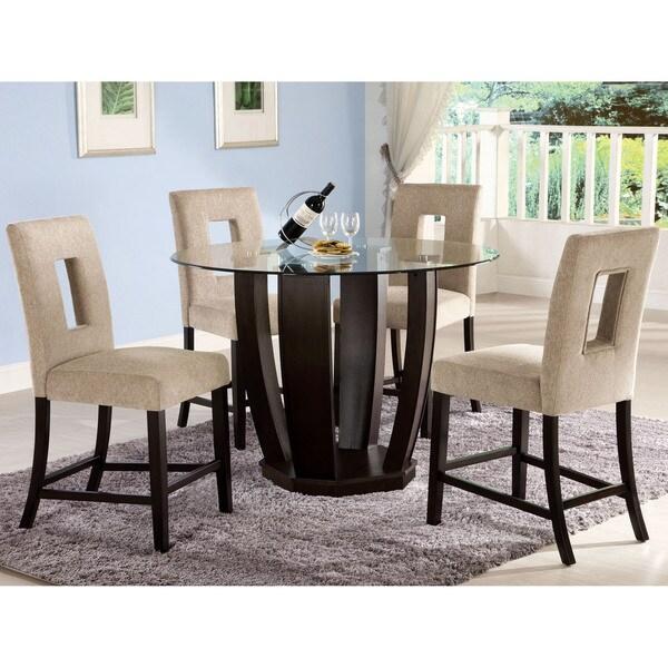 5 Piece Round Dinette Set: Shop Furniture Of America Eventhe 5-Piece Round Glass