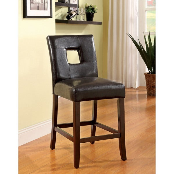 Counter Height Chairs Set Of 4 : ... of America Charisole Black Leatherette Counter Height Chair (Set of 2