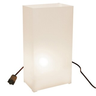 Electric White Luminaria Kit (Set of 10)