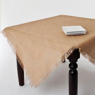 Fringed Jute Tablecloth or Runner