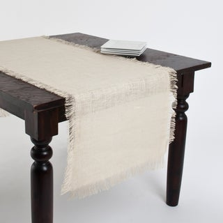 Fringed Jute Tablecloth or Runner