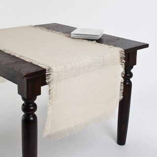 Fringed Jute Tablecloth or Runner (3 options available)