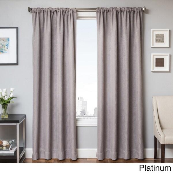 Softline Brandon Faux Linen Rod Pocket Curtain Panel
