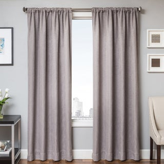 Softline Brandon Faux-linen Rod Pocket Curtain Panel