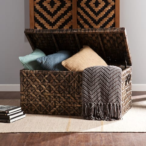 The Curated Nomad Terraza Wicker Storage Trunk
