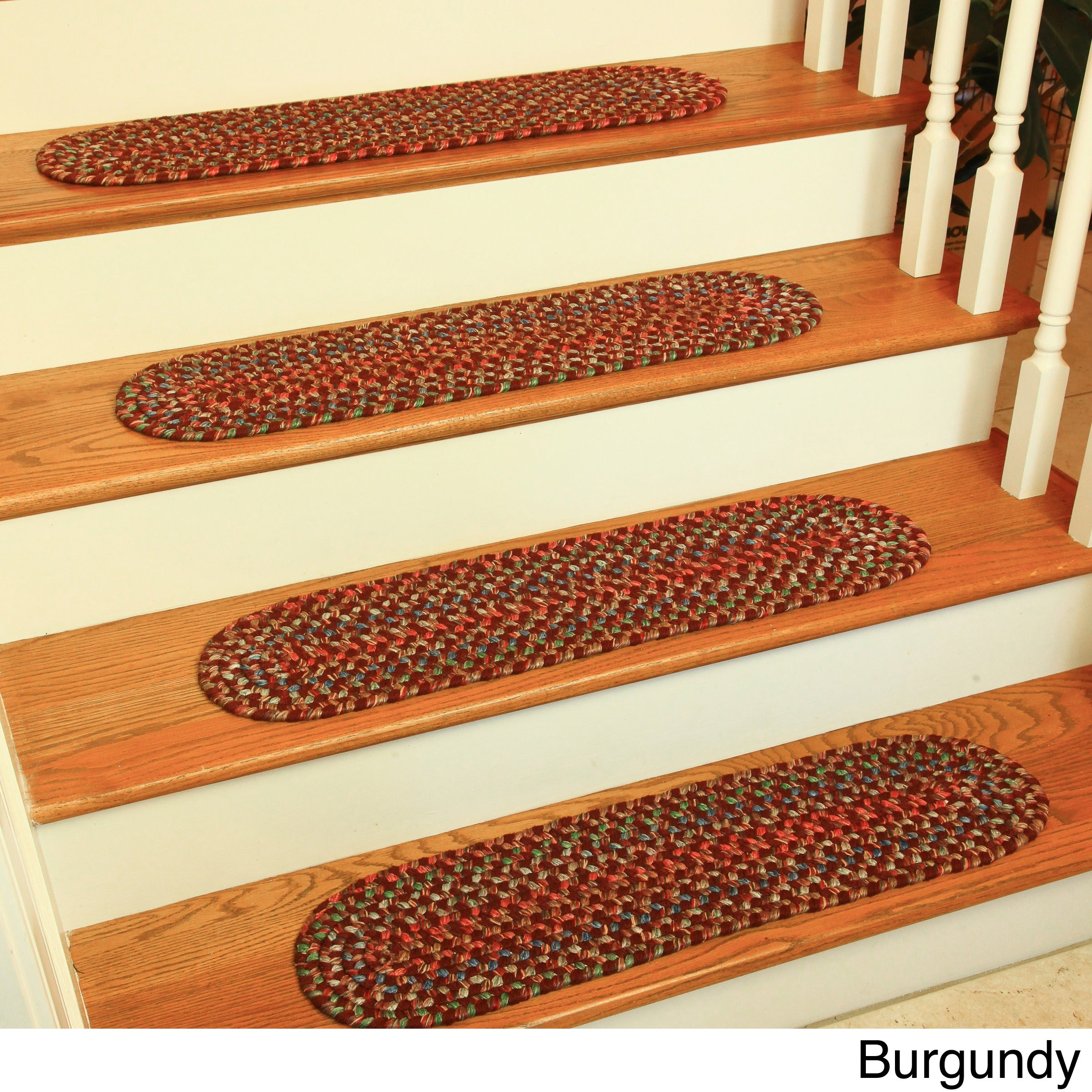 Katie Reversible Braided Stair Treads by Rhody Rug (Set o...