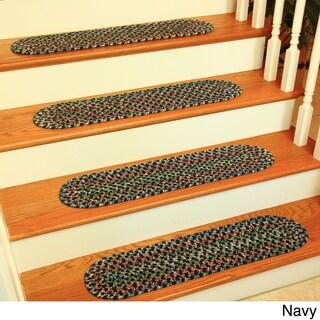 Katie Reversible Braided Stair Treads by Rhody Rug (Set of 4)