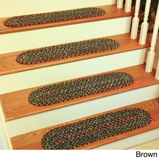 Katie Reversible Braided Stair Treads by Rhody Rug (Set of 4) (More options available)