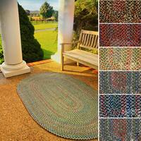 Rhody Rug Katie Indoor/ Outdoor Reversible Braided Rug - 2' x 4'