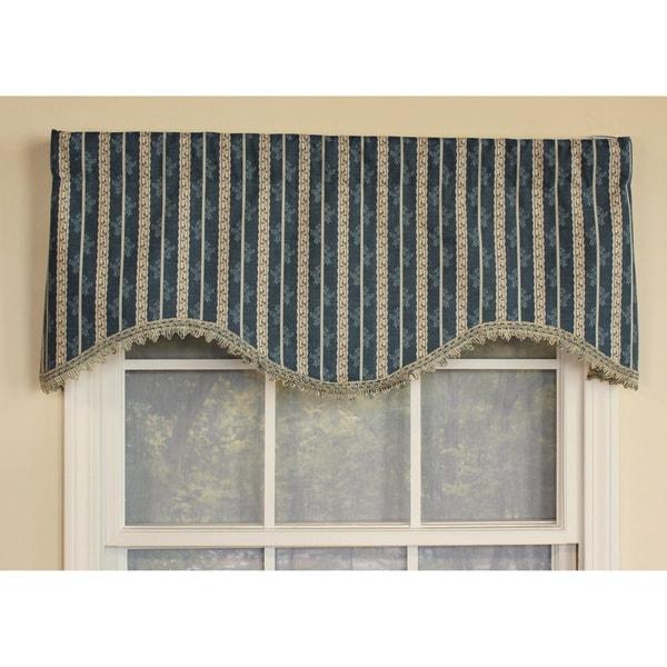 RLF Home Ellington Stripe Cornice Window Valance