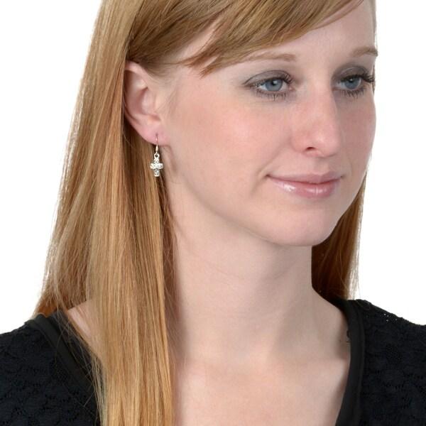 Celtic Knot Cross Dangle Earrings Premium Jewelry Set of 2