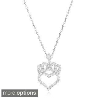 Journee Collection Sterling Silver Cubic Zirconia Tear Drop Pendant