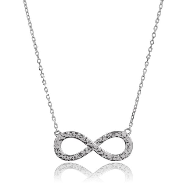 Journee Collection Sterling Silver Infinity Pendant