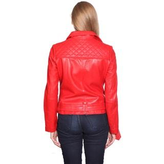 NuBorn Leather Women's Monica Leather Moto Jacket