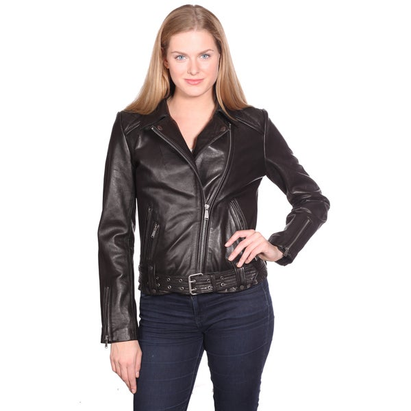 moto vest womens. nuborn leather women\u0027s monica moto jacket - free shipping today overstock.com 16765656 vest womens