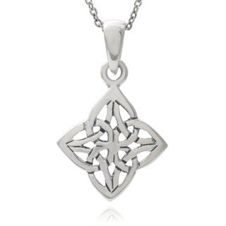 Journee Collection Sterling Silver Celtic Diamond Pendant