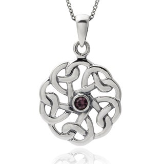 Journee Collection Sterling Silver Cubic Zirconia Round Celtic Pendant