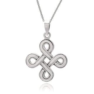 Journee Collection Sterling Silver Handcrafted Celtic Pendant