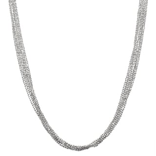 Journee Collection Rhodium Italian 7-strand Necklace