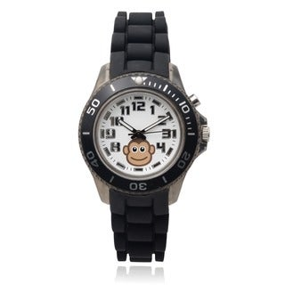 Geneva Platinum Kids' Light Up Monkey Round Face Silicone Band Watch