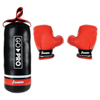 Franklin Sports Go Pro Soft Sport Punching Bag & Glove Set