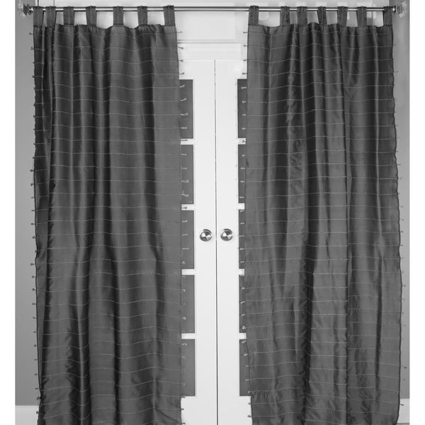 Jute Stripe Curtain Panel Free Shipping Today Overstock Com