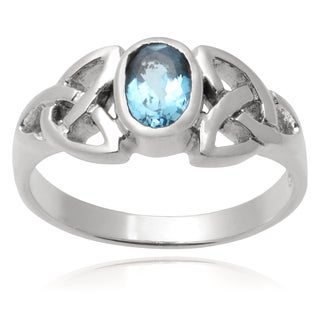 Journee Collection Sterling Silver Cubic Zirconia Celtic Knot Ring
