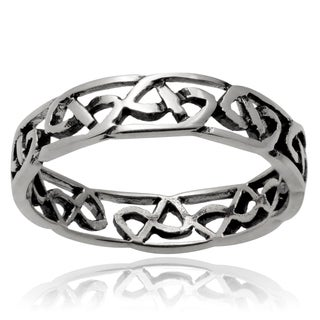 Vance Co. Men's Sterling Silver Celtic Band (5 MM)