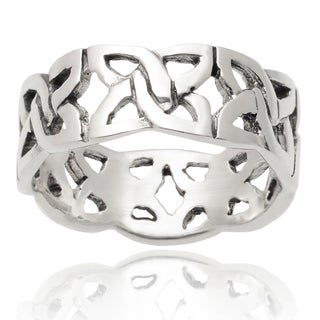 Journee Collection Sterling Silver Celtic Band (7 mm)