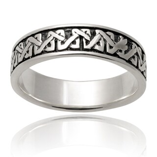 Vance Co. Men's Sterling Silver Celtic Band (7 mm)