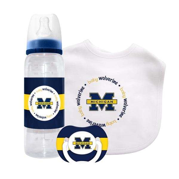 Baby Fanatic NCAA Michigan Wolverines 3-piece Baby Gift Set