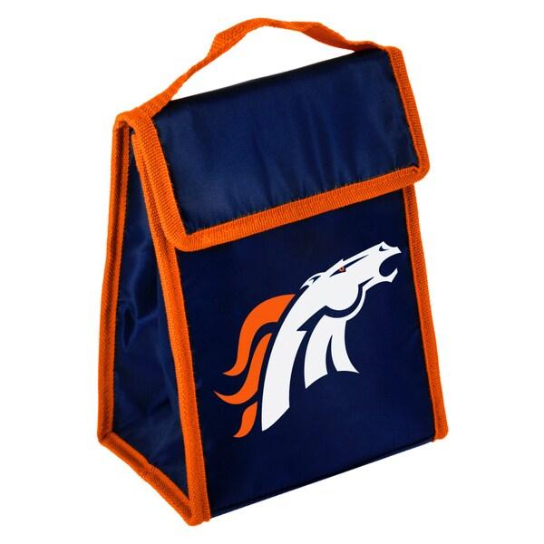 Forever Collectibles Denver Broncos Big Logo Hook and Loop Lunch Bag