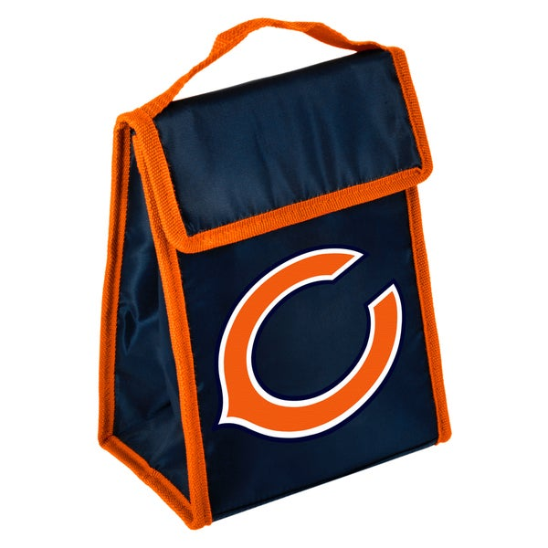 Forever Collectibles Chicago Bears Big Logo Hook and Loop Lunch Bag