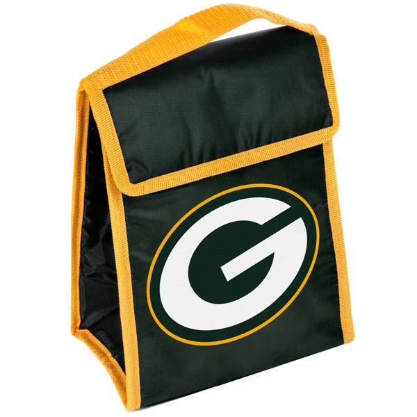 Forever Collectibles Green Bay Packers Big Logo Hook and Loop Lunch Bag