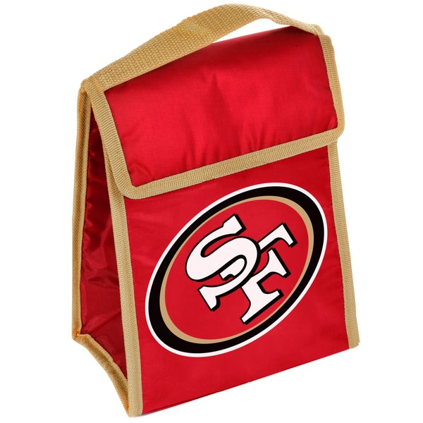 Forever Collectibles San Francisco 49ers Big Logo Hook and Loop Lunch Bag
