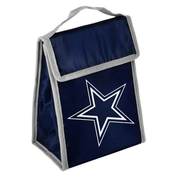 Forever Collectibles NFL Dallas Cowboys Big Logo Hook and Loop Lunch Bag