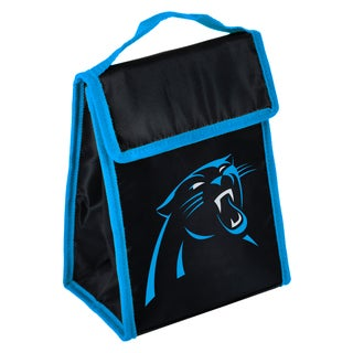 Forever Collectibles Carolina Panthers Big Logo Hook and Loop Lunch Bag