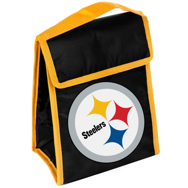 Forever Collectibles Pittsburgh Steelers Big Logo Hook and Loop Lunch Bag