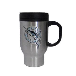 Miami Marlins Stainless Steel Travel Coffee Mug