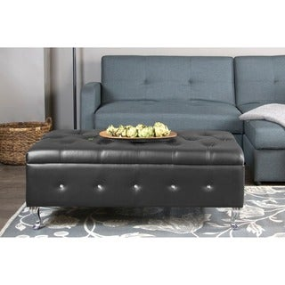 Baxton Studio Brighton Button Tufted Upholstered Modern Bedroom Bench