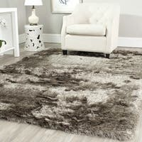 Safavieh Handmade Silken Glam Paris Shag Sable Brown Rug - 9' x 9' square