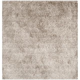 Safavieh Paris Shag Danara Glamour Solid Polyester Rug (9 x 9 Square - Sable)