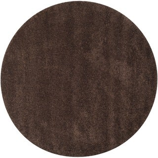 Safavieh California Cozy Solid Brown Shag Rug (8'6 Round)