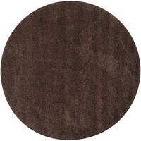 "Safavieh California Cozy Plush Brown Shag Rug - 8'6"" x 8'6"" round"