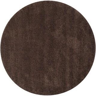 Safavieh California Cozy Plush Brown Shag Rug (8'6 Round)